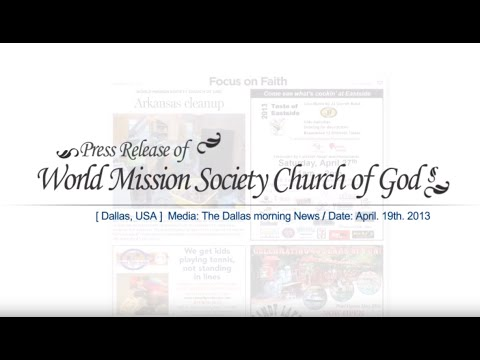 [Dallas News] WORLD MISSION SOCIETY CHURCH OF GOD Arkansas cleanup
