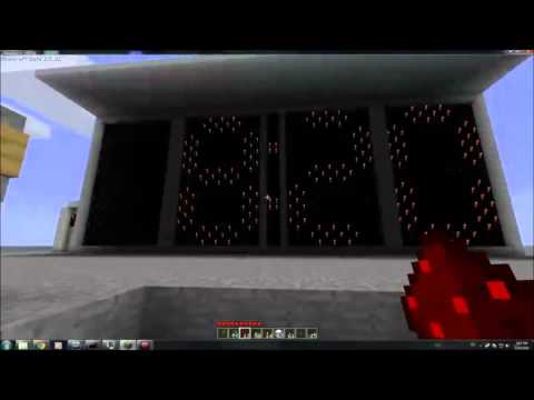Minecraft Digital Alarm Clock [Redstone]