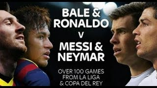 Messi And Neymar Vs Gareth Bale And Cristiano Ronaldo