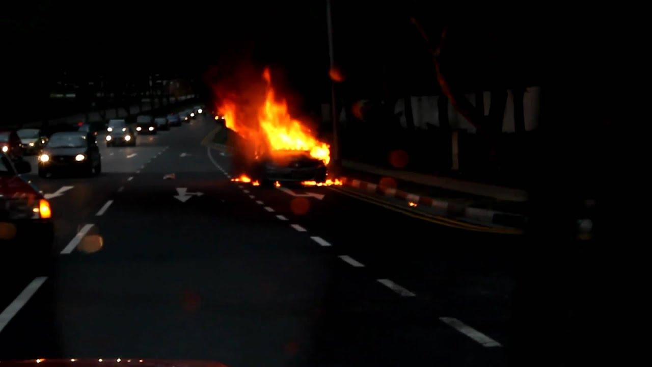 Honda airwave on fire singapore youtube