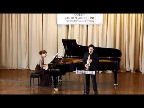 Golden Saxophone 2015 – Raul Cicuendez – Concerto Op 14 by Lars Erik Larsson