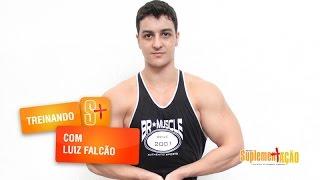 Treino de ombros e triceps com Luiz Falcão