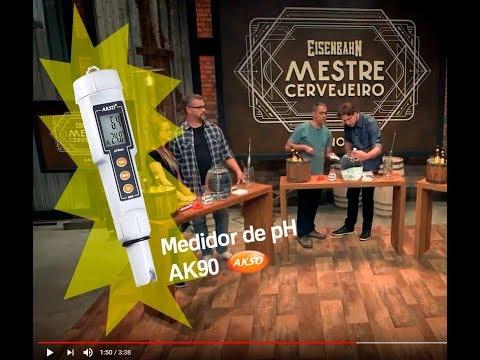 Medidor de pH da Akso no programa Eisenbahn Mestre Cervejeiro 2018