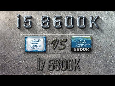 i5 8600K vs i7 6800K Benchmarks | Gaming Tests Review & Comparison