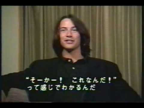 Keanu Reeves & Patrick Swayze interview for Point Break in Japan - 1991