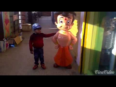 Ishan with chota bheem2014