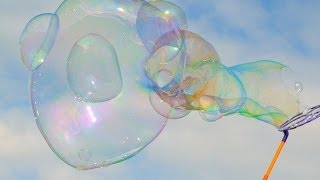 Giant Soap Bubbles Popping in Ultra Slow Motion
