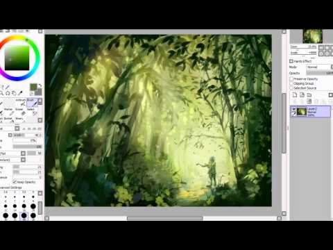 SAI Speedpaint | The Forest Stray