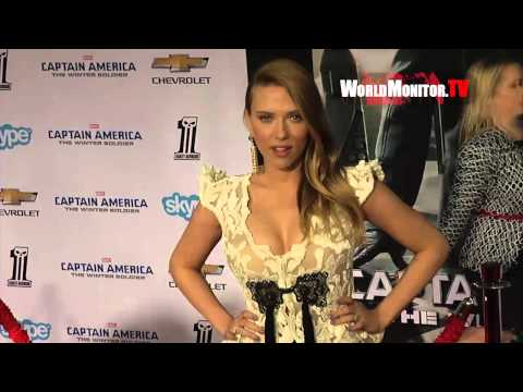 Scarlett Johansson arrives at 'Captain America  The Winter Soldier' Los Angeles premiere