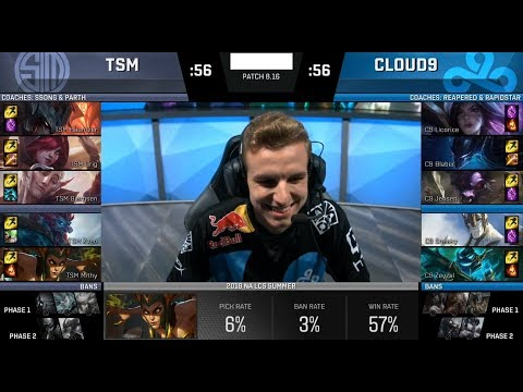 Licorice Plays Hecarim Top - C9 VS TSM Game 2 Highlights - 2018 NA Regional Qualifier Finals