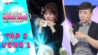 Hát mãi ước mơ | Tập 2 vòng 1 (Ước mơ): Trấn Thành, Hariwon khóc nấc trước câu chuyện của chú Gấm
