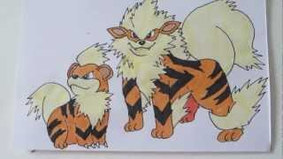 How To Draw Pokemon: No.58 Growlithe, No.59 Arcanine