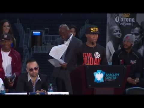 Judah vs. Malignaggi: Live Press Conference - SHOWTIME Boxing