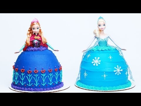 HOW TO MAKE A FROZEN PRINCESS CAKE - NERDY NUMMIES