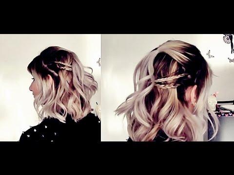 Penteado prático e fácil para cabelos curtos - Pamella Rocha