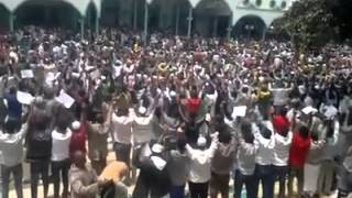 #12 Ethio Muslim Peaceful Demonstration On Apr/11/2014 at Addis Ababa Anwar Masjid