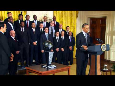 The Miami Heat Visit the White House,