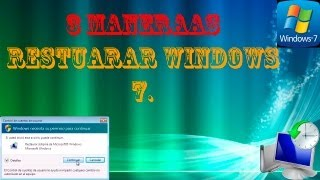 3 Maneras De Restaurar Windows 7 (puntos De Restauración