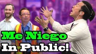 """ME NIEGO"" - Ozuna, Reik, Wisin - SINGING IN PUBLIC!!"