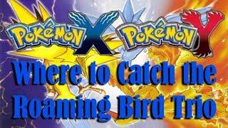 How To Catch The Legendary Bird Trio In Pokemon X And Y