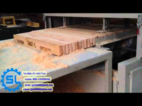 automatic wooden pallets keyway planer