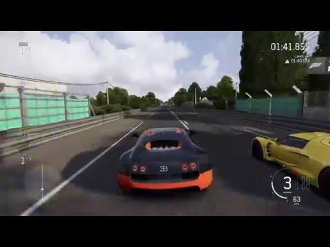 hennessey venom gt vs bugatti veyron ss drag race forza motorsport 6. Black Bedroom Furniture Sets. Home Design Ideas