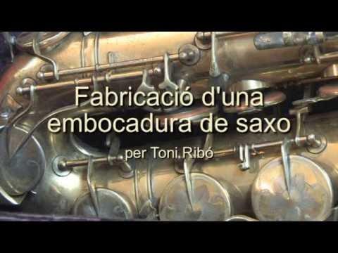 Toni Ribó: construcció d'una embocadura de saxo de fusta