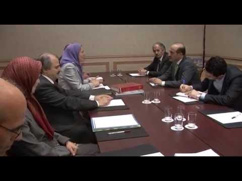 Meeting of  Maryam Rajavi and  Ahmad Jarba  in Paris