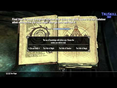 [Skyrim] Oghma Infinium Exploit- Container Method [Xbox360/PS3/PC]