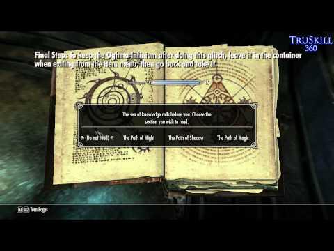 [Skyrim] Oghma Infinium Exploit- Container Method [Xbox360/PS3/PC]