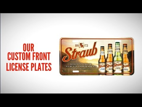 Custom Front License Plates (203) 778-8489 Tags America