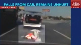 Video: Toddler Falls From Car, Remains Unhurt