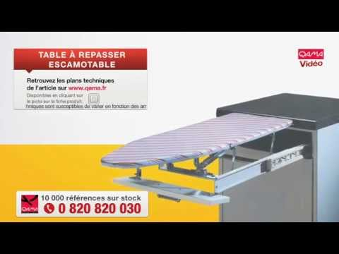 Table repasser escamotable par qama youtube - Tiroir table escamotable ...