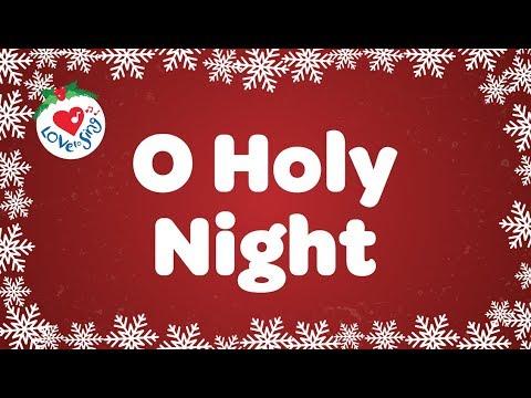 O Holy Night with Lyrics Christmas Carol Sung by a Children's Choir - YouTube