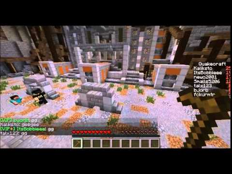 Talx plays: Minecraft minigame- Quakecraft!