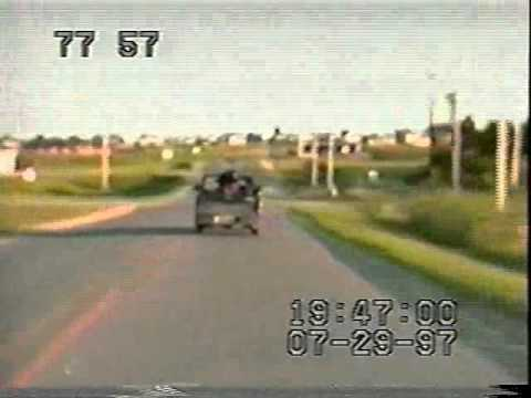 Pickup truck gets owned by high speed semi-trailor