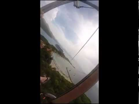Longest Zip Line over water in the world - Labadee, Haiti