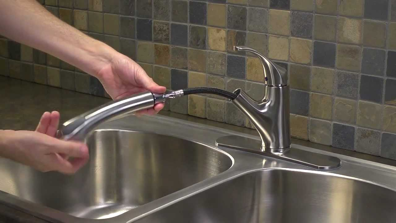 Installing A 1 Handle Pull Out Kitchen Faucet Shelton