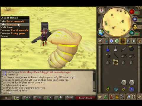 Runescape Slayer Guides: Desert Strykewyrms - With Commentary