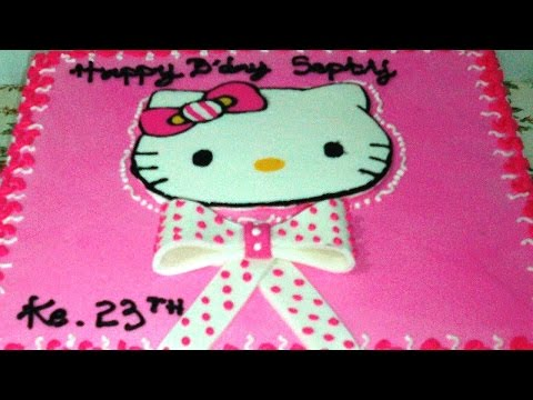 Hello Kitty Bow ties Easy Cake Decorating Buttercream Transfer