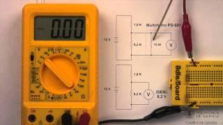 Multímetro digital. Efecto de carga en medida de tensiones