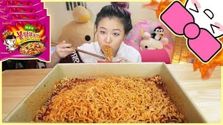 4X SPICY MALA FIRE NOODLE CHALLENGE!!