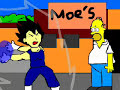 Vegeta VS Homero voces reales