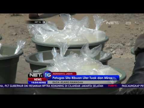Aksi Pemilik Gudang Tuak di Indramayu yang Tak Terima Dirazia NET16