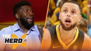 Festus Ezeli on Steph Curry's greatness, LeBron chasing Michael Jordan's 6 titles   NBA   THE HERD