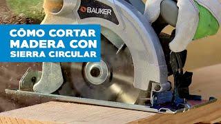 Cortar madera con sierra circular