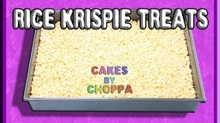 Best Rice Krispie Treat Recipe for Novelty Cakes