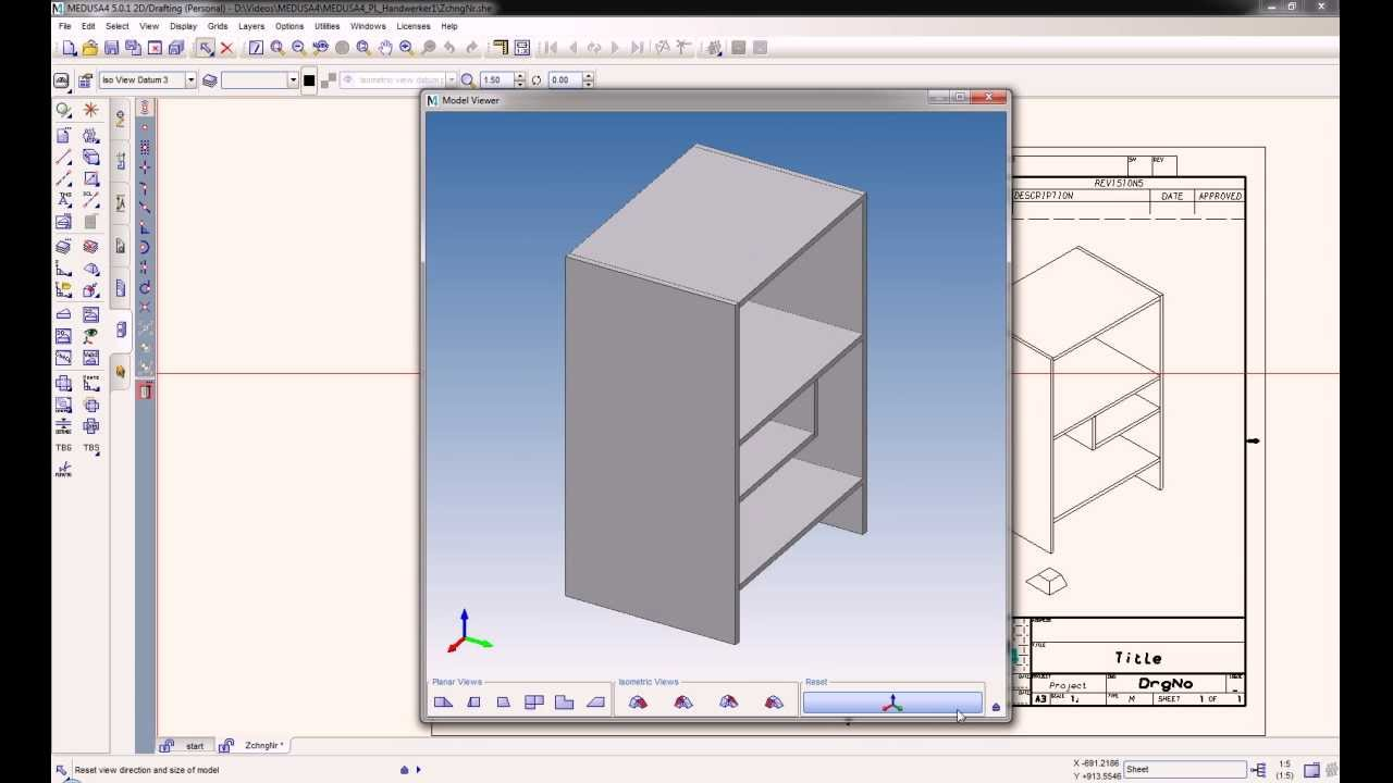 Kostenlose 2d 3d cad software f r handwerker medusa4 for Online 2d drafting software