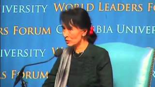Columbia University World Leaders Forum: A Discussion Featuring Daw Aung San Suu Kyi
