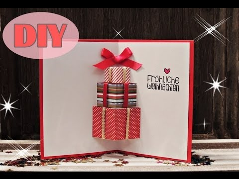 weihnachtskarten selber basteln 7 weihnachtsgeschenke christmas card diy youtube. Black Bedroom Furniture Sets. Home Design Ideas